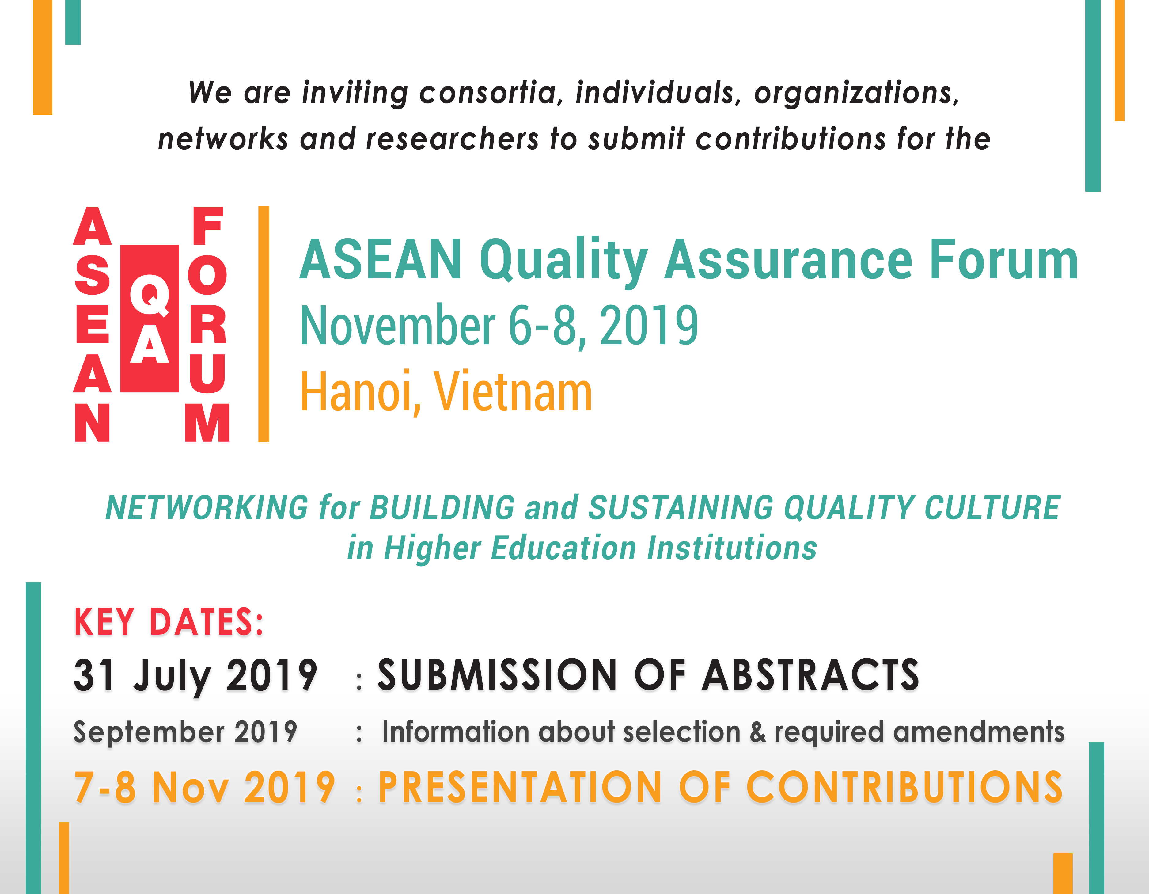 ASEAN-QA Forum Call for Contributions